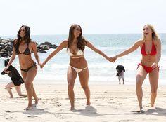 Total Divas' Nikki Bella, Brie Bella and Paige Strip Down to Their Bikinis for Wet and Wild Photo Shoot in Malibu  Total Divas
