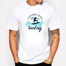 Pokemon In California Beach travel Printed T-Shirt For Men Boy Novelty Men's round neck short sleeve T shirt Tops Fashion Tees(China (Mainland))
