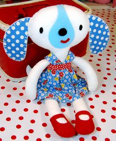 """Dog softie from """"Craft Hope"""" book"""