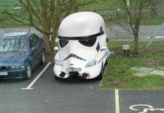 Stormtrooper car. #StarWars