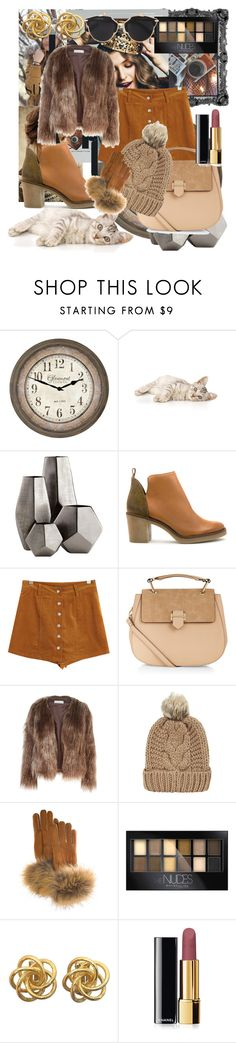 """""""Autmn style"""" by belma-nadina ❤ liked on Polyvore featuring Cyan Design, Miista, Chicnova Fashion, Accessorize, Related, FRR, Maybelline, Chanel and Christian Dior"""