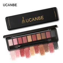 UCANBE 10 Colour Shimmer Matte Eye Shadow Palette
