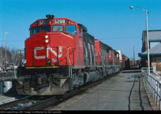 CN 5288          CN 5288 leads train 217 by the station. Date: 4/2/1988 Location: Capreol, ON CA Country Flag   Map Show Capreol on a rail map Views: 233 Collection Of:   Don Jaworski Locomotives: CN 5288(SD40-2W)    Author:  Don Jaworski