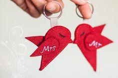 Weiteres - Hochzeit Schlüsselanhänger - Vogel ♥ Herzchen - ein Designerstück von Blue-Lover bei DaWanda