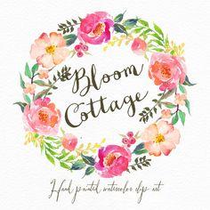 Aquarell Blumen-Kranz-Bloom-Hütte/Individual von GraphicSafari