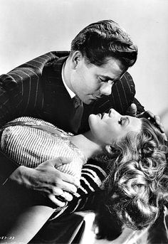 Glenn Ford and Rita Hayworth in a publicity shot for Gilda (Charles Vidor, 1946)