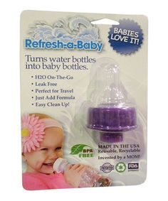 Look at this #zulilyfind! Refresh-a-Baby Purple Bottle Adapter - Set of Two by Refresh-a-Baby #zulilyfinds