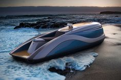 Strand Craft has created a powerful, yet luxurious personal water craft that will definitely turn heads as it is cutting across the water's surface. Called the V8 Wet Rod (you know, like a Hot Rod, only on the water), this is certainly not your average jet ski.
