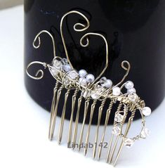 + 120 Unique Mother's Day Gifts : Hair Accessories, Bridal Comb - White Pearl and Swarovski Crystal Comb - Gifts & Ideas : Explore & Discover the best handpicked gifts & ideas for any occasion Unique Mothers Day Gifts, Mother Day Gifts, Large Hole Beads, Bridal Comb, Wedding Men, Wedding Gifts, Bridal Hair Accessories, Fashion Bracelets, Pearl White