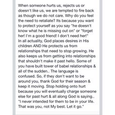 Some more great advice from @heatherllove!! I never looked at is as God doesn't want me to have you in my life.