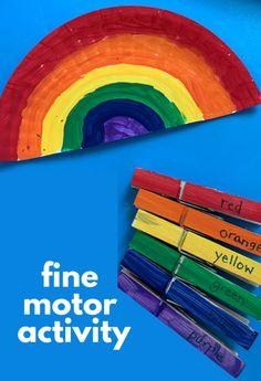 Rainbow Activities, Autism Activities, Sorting Activities, Color Activities, Kindergarten Activities, Down Syndrome Activities, Fine Motor Activities For Kids, Toddler Learning Activities, Learning Skills