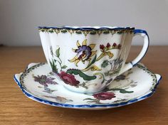 Royal Paragon Teacup and Saucer Butterfly Flower Tea Cup and