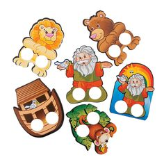 Noah's Ark Finger Puppets - Ordered these to use around favors.  The holes are perfect to stick a ribbon through