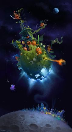 Carrot Ship by zacretz.deviantart.com