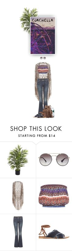 """Coachella By Night"" by hollowpoint-smile ❤ liked on Polyvore featuring Nearly Natural, Prada, Miss Selfridge, True Religion, Gianvito Rossi and Witchery"