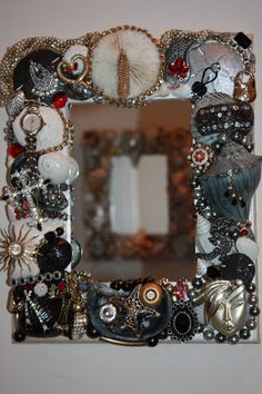 Funky 2 Sea Shell Jewelry  Mosaic Mirror FREE by SeaForYourself, $72.00