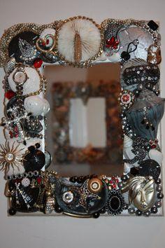 Funky 2 Sea Shell Jewelry  Mosaic Mirror FREE by SeaForYourself, $72.00