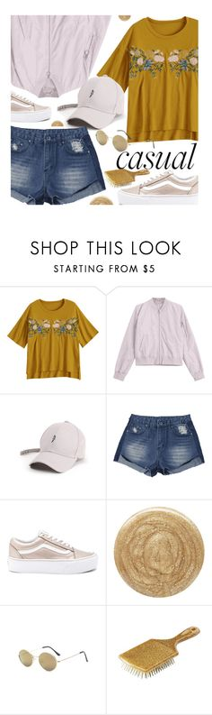 """""""Floral Print T-Shirts"""" by zaful ❤ liked on Polyvore featuring Vans, Burberry and Charlotte Russe"""