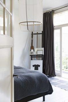 Slaapkamer met zwart
