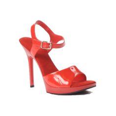 "5"" Stiletto Heel Ankle Strap Mini Platform Sandal"