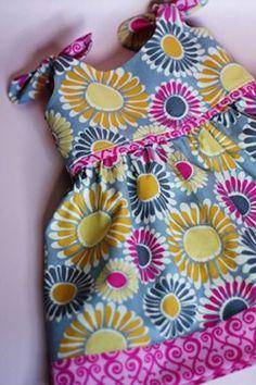 Itty Bitty Baby Dress Free Pattern: Robert Kaufman Fabric Company