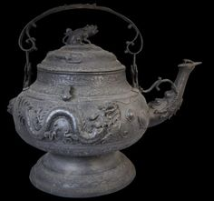 Borneo Cast Bronze Zoomorphic Ritual Kettle - Michael Backman Ltd Mount Kinabalu, Stone Work, Borneo, Asian Art, Brass, Copper, Kettle, Metal Working, Tea Pots