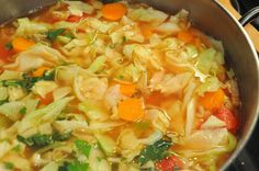 7 Day Detox Cabbage Soup More detox soup cabbage Best Liquid Diet, Detox Diet Drinks, Cleanse Detox, Diet Detox, Healthy Cleanse, Stomach Cleanse, Juice Cleanse, Detox Soups, Vegan Detox