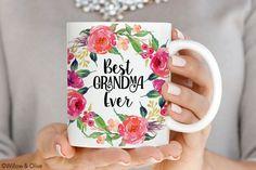 Best Grandma Ever Mug, Mothers Day Coffee Mug, Gift for Grandma, Mothers Day Gift, Ceramic Mugs, Grandma Mug, New Grandma Gift, Q0016 by WillowAndOlive on Etsy