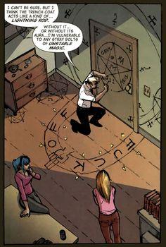 "Ah yes, the mystical ""FUCK OFF"" circle. (Hellblazer #285)"