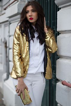 gold sequined