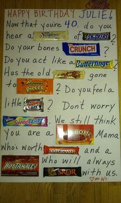 cute father's day candy poster