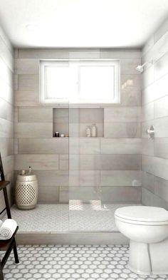 My Home Design, Bathroom Remodel Shower, Shower Tile, Bathroom Makeover, Shower Doors, Bathroom Interior, Tile Remodel, Bathroom Decor, Small Bathroom Remodel