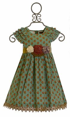 Mustard Pie Party Dress Green Delphine m(Size Baby Girl Frocks, Frocks For Girls, Little Dresses, Little Girl Dresses, Girls Dresses, Girls Frock Design, Kids Frocks Design, Little Girl Fashion, Kids Fashion