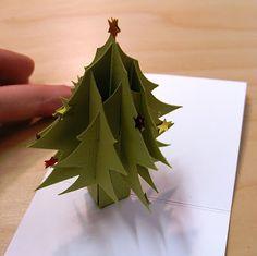 Pop-up-Weihnachtsbaum-Karte mit Link zu GSD und Schneidevorlage