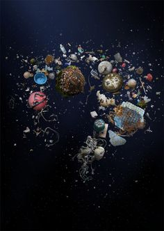 Outstanding photos of marine plastic waste by Mandy Barker, award-winning photographer and adventurer from Leeds, England. Mandy explores the beauty and tragedy of marine plankton, she turns ocean trash into really stunning art. Ocean Photography, Fine Art Photography, Art Environnemental, Ocean Pollution, Plastic Pollution, Marine Debris, Colossal Art, Painting Collage, A Level Art