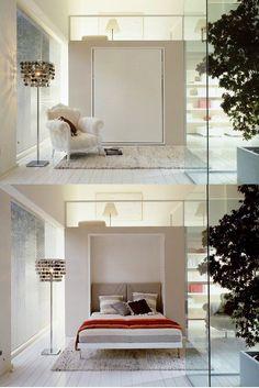 Opklapbed wit slaapkamer adults