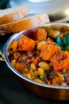 Pumpkin Stew with Lentils and Chickpeas  #pumpkin #stew #vegetarian #lentils #chickpeas