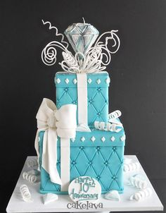 Tiffany and diamonds cake by Rick Reichart, cakelava