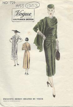 Vintage Vogue, Moda Vintage, Vintage Fashion, Vintage Glamour, 1950s Fashion, Vintage Dress Patterns, Vintage Dresses, Vintage Outfits, Vintage Clothing