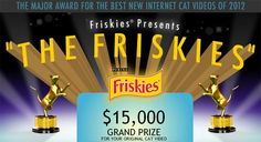 """Cat blogger and judge for The Friskies Karen Nichols posted this story about """"The Friskies"""" Internet cat video contest on mousebreath.com. Read and enter your video!     Win $15,000 for your original cat video"""