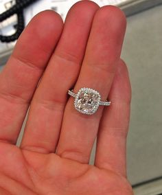 This engagement ring is pure PERFECTION!!! simple, classic, and a huge diamond sparkler. wow.