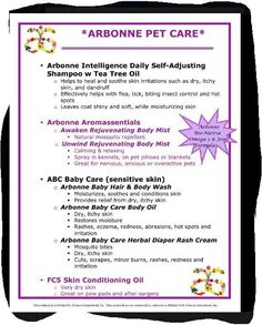 Arbonne will take care of your pets too! If interested in Arbonne contact me today. www.facebook.com/ArbonnewithJessicaJayMiner.com or go online to www.arbonne.com and use my consultant ID number 13597877.