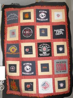 t-shirt quilt ~ so easy to make!