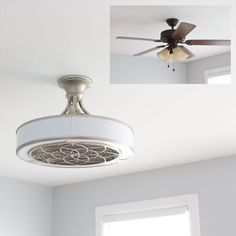 modern ceiling fan with enclosed blades