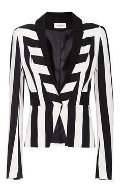 My Fair Lady Striped Jacket - MUGLER Resort 2016 - Preorder now on Moda Operandi