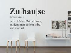 Lexikon an der Wand   Wandtattoo Zuhause Definition im Stil eines Wörterbucheintrags #Typographie #Wandsprüche