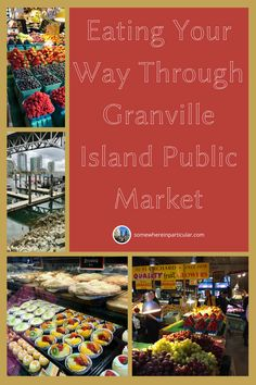 Granville Island Public Market is a treasure trove of all the very best things to eat. It's like a cross between a Trader Joe's, an old-world street market, and the best mall food court ever. You can find delicious food to eat right now and also something to take home for dinner. Click over to the blog to find out the full scoop! #granvilleislandpublicmarket #vancouverbc #vancouvercanada #britishcolumbia #vancouverbritishcolumbia #somewhereinparticular #traveldestinations #canadatravel Vancouver British Columbia, World Street, Granville Island, Food Court, Foods To Eat, Eat Right, Canada Travel, Pacific Northwest, Old World