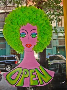 'Open' sign @ Chaos NY Boutique Ideas, A Boutique, Open Signs, Hair Beauty, Sweets, Craft Ideas, Texture, Store, Business