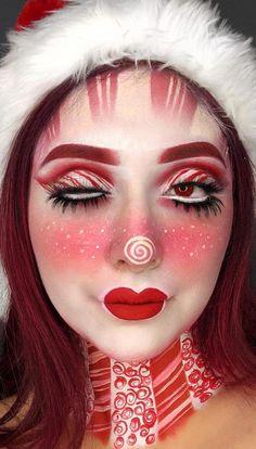 Makeup Clown, Makeup Art, Makeup Tips, Eye Makeup, Makeup Ideas, Beauty Makeup, Scary Makeup, Nail Ideas, Christmas Makeup Look