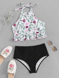 Shop Floral Peplum Top With High Waist Tankini Set online. ROMWE offers Floral Peplum Top With High Waist Tankini Set & more to fit your fashionable needs. Summer Bathing Suits, Girls Bathing Suits, Mode Du Bikini, Women Swimsuits, Ideias Fashion, Baby, Trendy Bikinis, Women's Bikinis, Gothic Steampunk